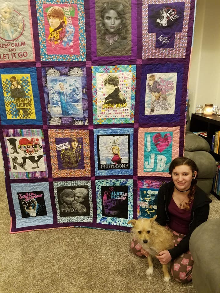 Bella with the quilt
