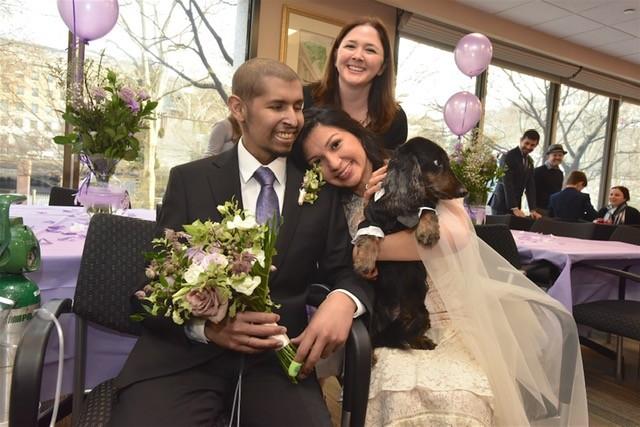 Joel and Natalia on wedding