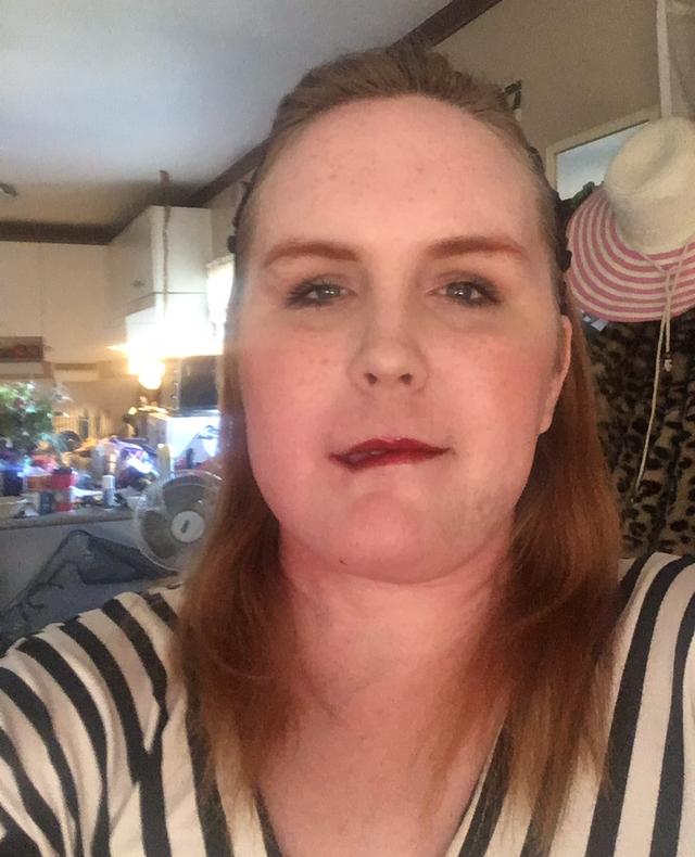 Woman wearing stripes